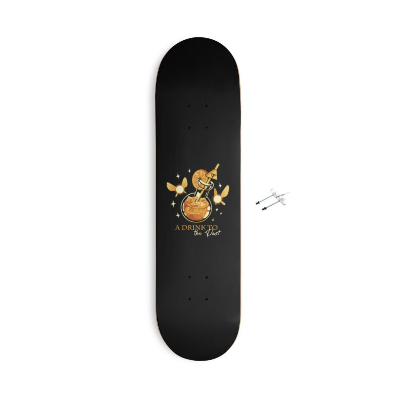 A Drink to the Past Accessories With Hanging Hardware Skateboard by ilustrata