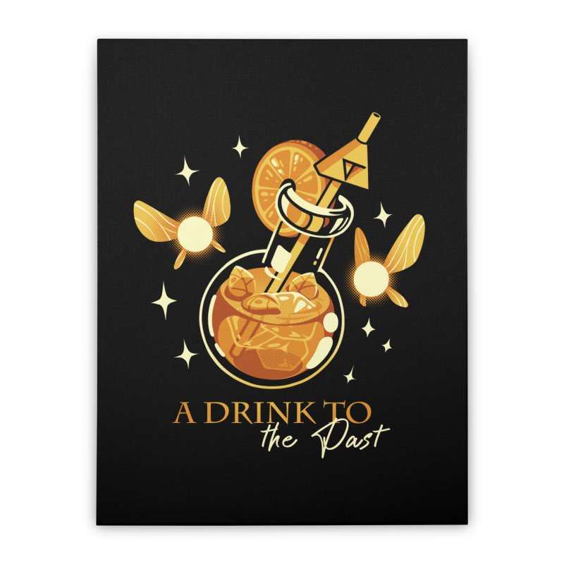 A Drink to the Past Home Stretched Canvas by ilustrata
