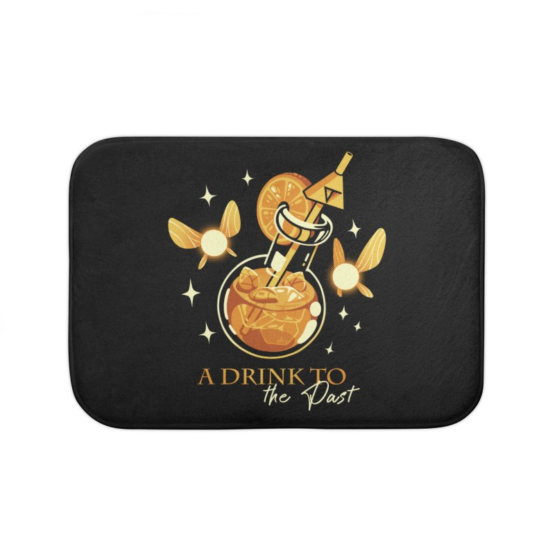 A Drink to the Past Home Bath Mat by ilustrata