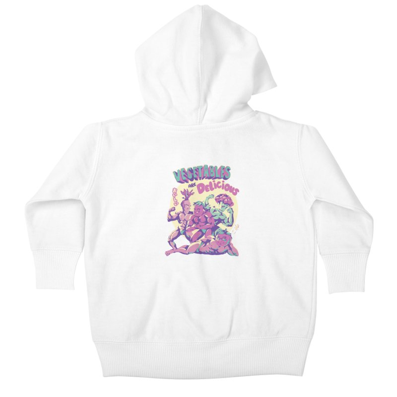 Vegetables are Delicious Kids Baby Zip-Up Hoody by ilustrata