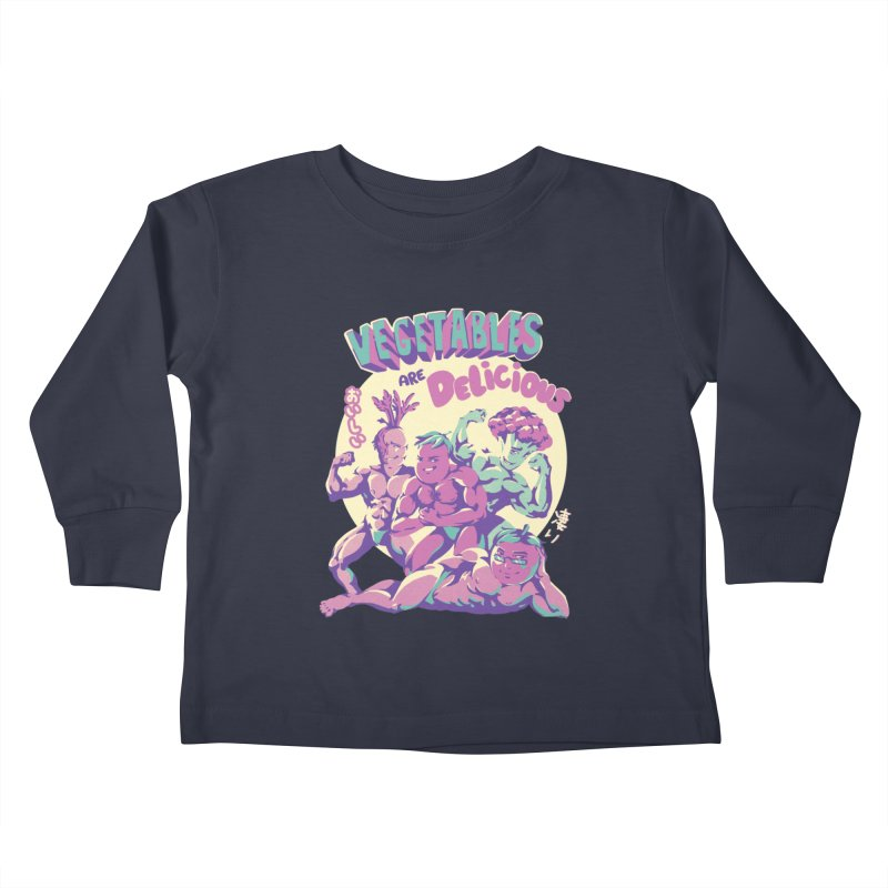 Vegetables are Delicious Kids Toddler Longsleeve T-Shirt by ilustrata