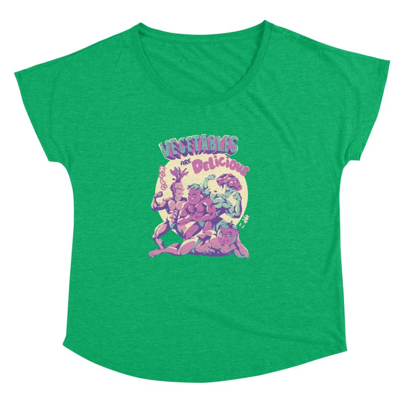 Vegetables are Delicious Women's Dolman Scoop Neck by ilustrata