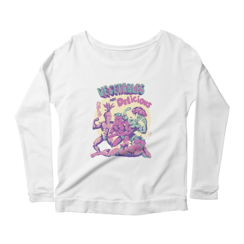 Vegetables are Delicious Women's Scoop Neck Longsleeve T-Shirt by ilustrata