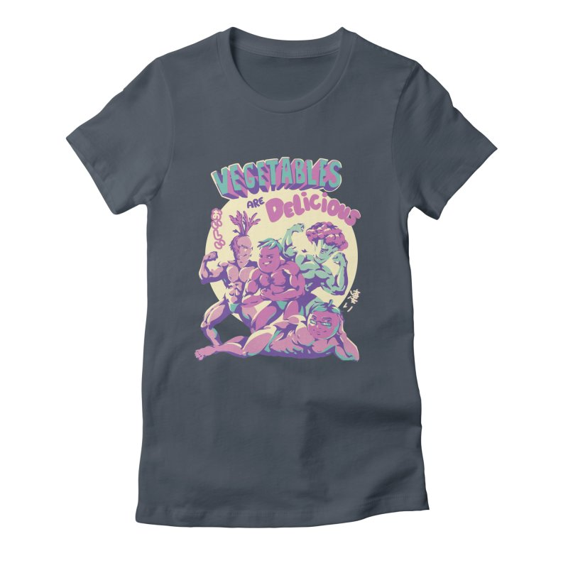 Vegetables are Delicious Women's Fitted T-Shirt by ilustrata