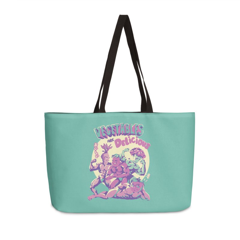 Vegetables are Delicious Accessories Weekender Bag Bag by ilustrata