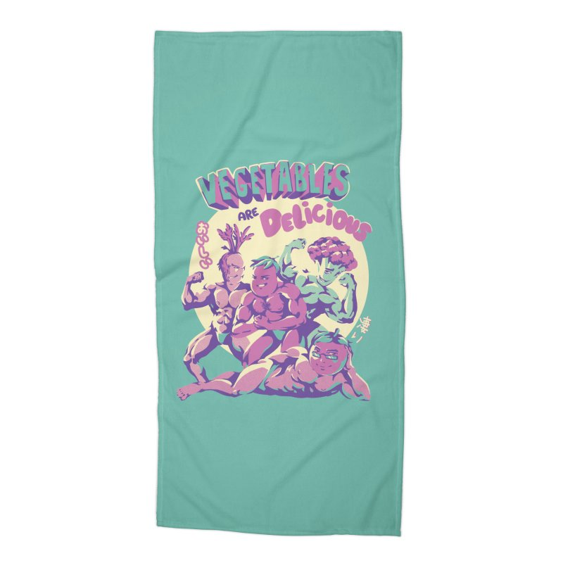 Vegetables are Delicious Accessories Beach Towel by ilustrata