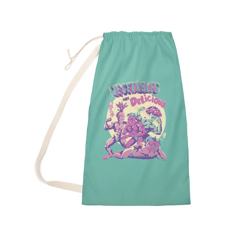 Vegetables are Delicious Accessories Laundry Bag Bag by ilustrata