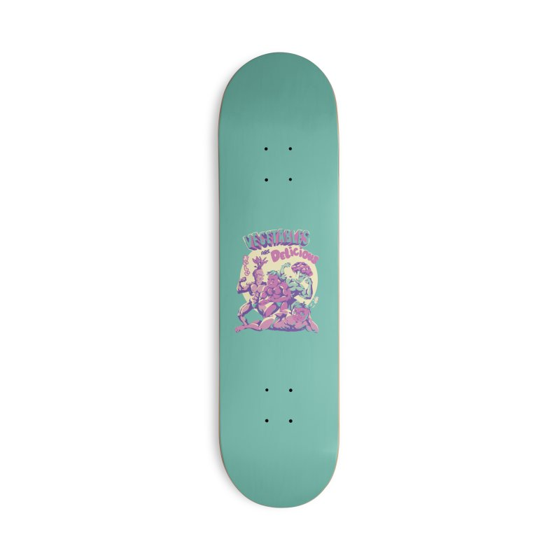 Vegetables are Delicious Accessories Deck Only Skateboard by ilustrata