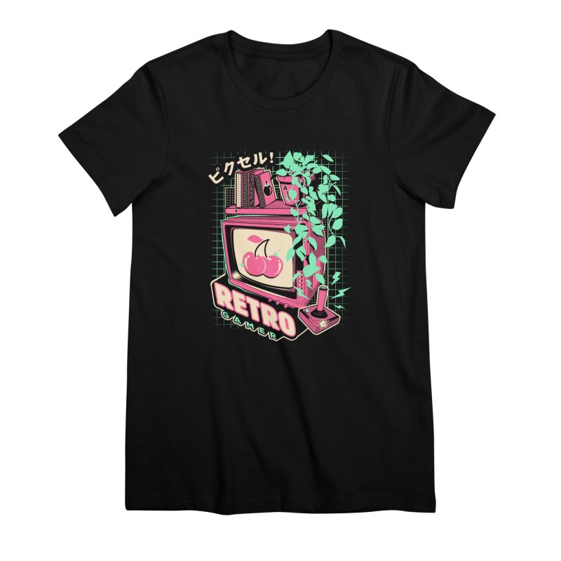 Retro Gamer Women's Premium T-Shirt by ilustrata