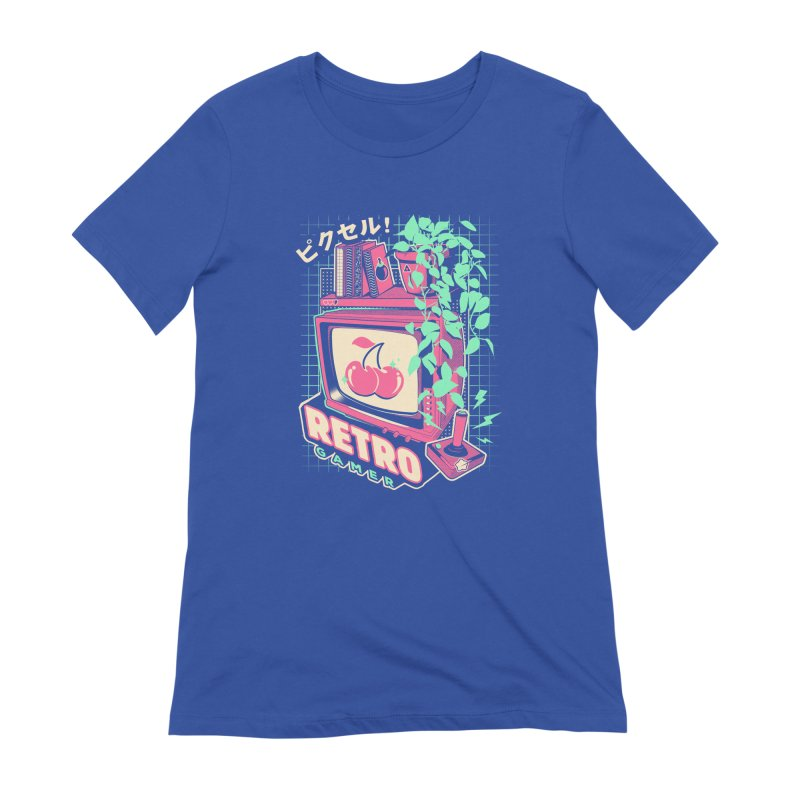 Retro Gamer Women's Extra Soft T-Shirt by ilustrata