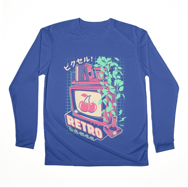 Retro Gamer Women's Performance Unisex Longsleeve T-Shirt by ilustrata