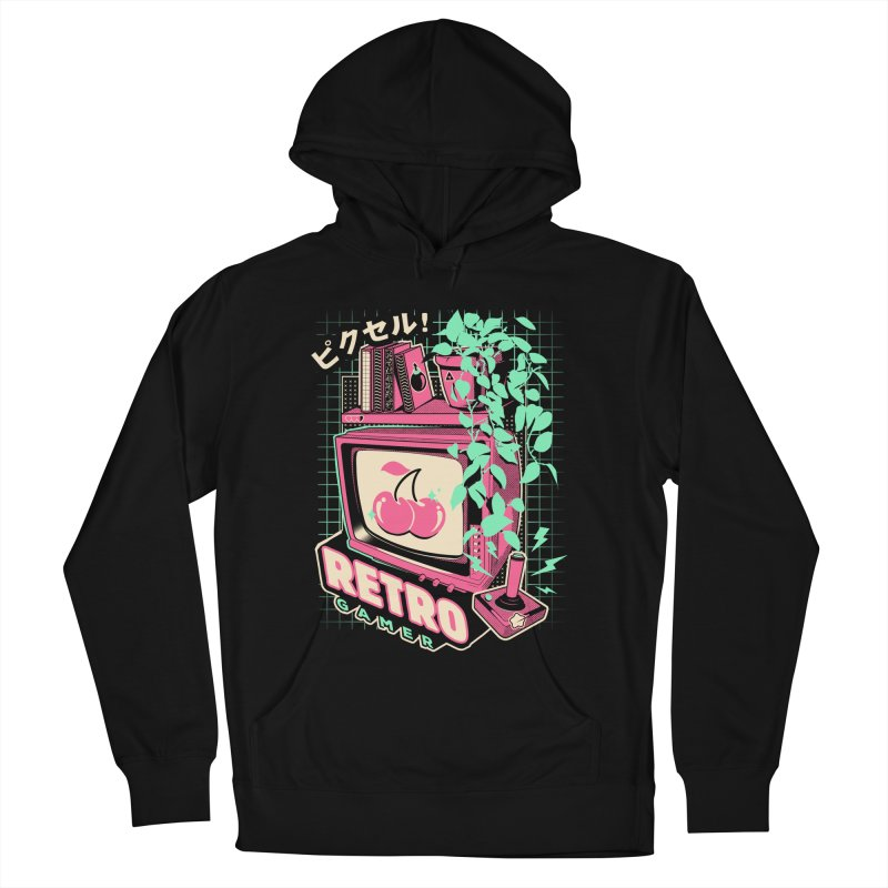 Retro Gamer Men's French Terry Pullover Hoody by ilustrata