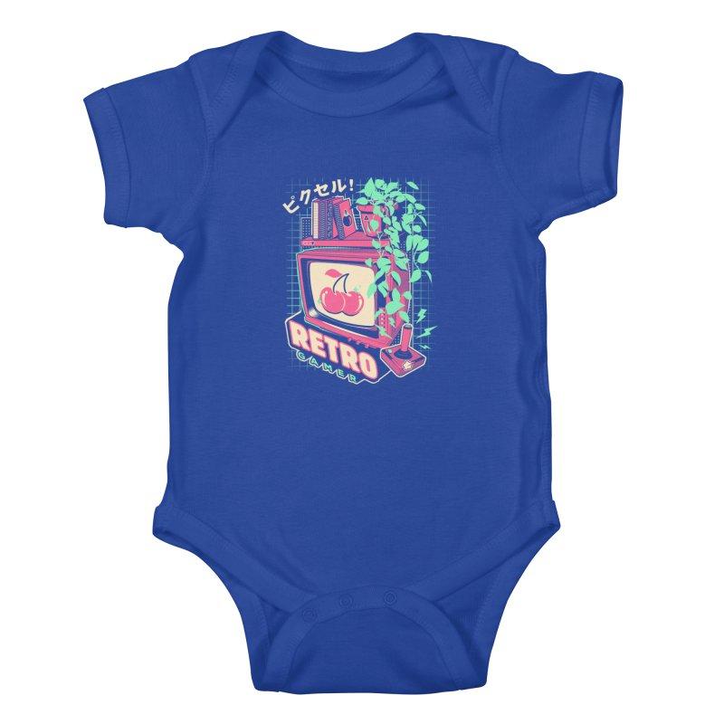 Retro Gamer Kids Baby Bodysuit by ilustrata