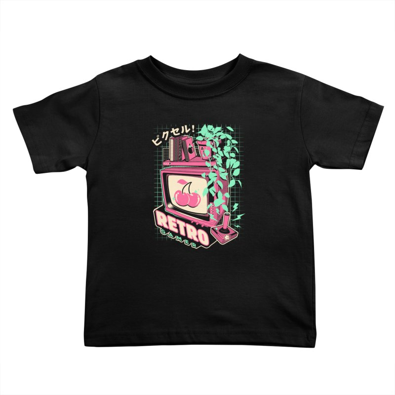 Retro Gamer Kids Toddler T-Shirt by ilustrata