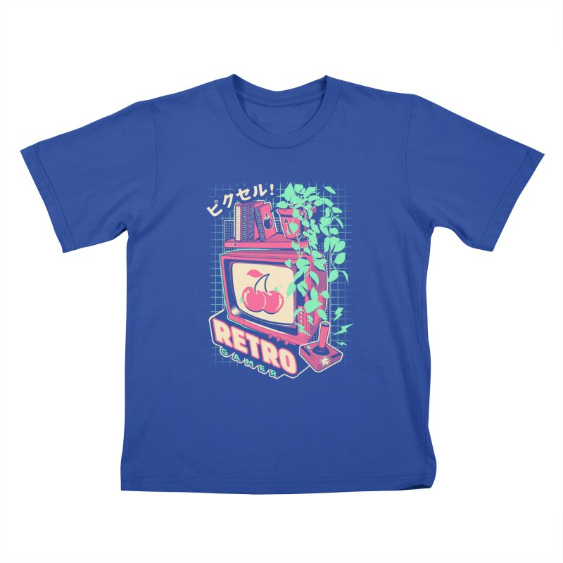 Retro Gamer Kids T-Shirt by ilustrata