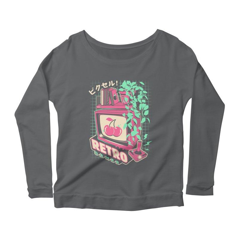 Retro Gamer Women's Scoop Neck Longsleeve T-Shirt by ilustrata