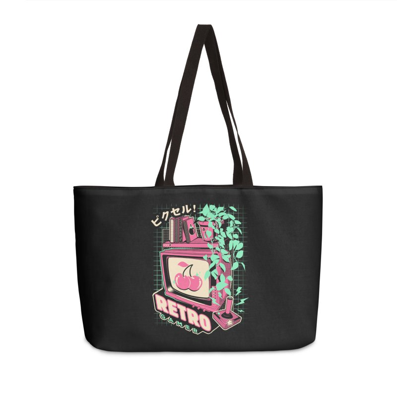 Retro Gamer Accessories Weekender Bag Bag by ilustrata