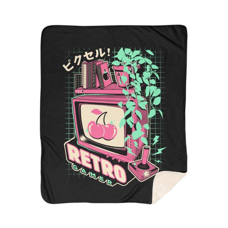 Retro Gamer Home Sherpa Blanket Blanket by ilustrata