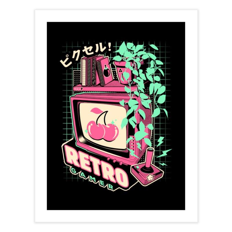 Retro Gamer Home Fine Art Print by ilustrata