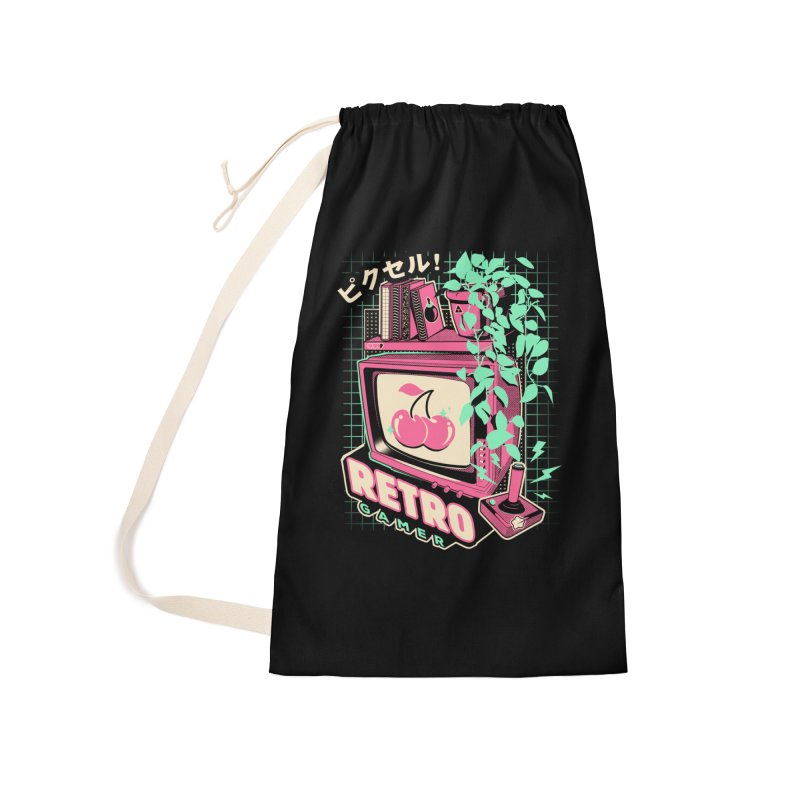 Retro Gamer Accessories Laundry Bag Bag by ilustrata