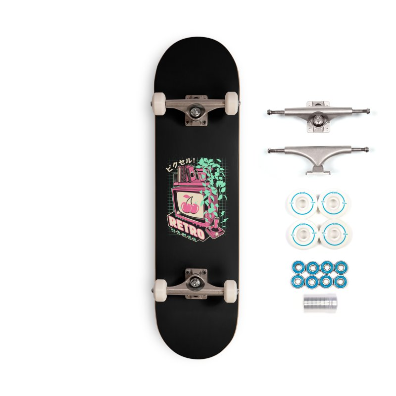 Retro Gamer Accessories Complete - Basic Skateboard by ilustrata