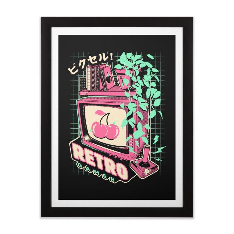 Retro Gamer Home Framed Fine Art Print by ilustrata