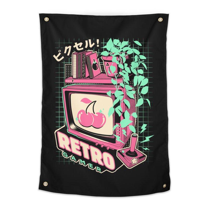 Retro Gamer Home Tapestry by ilustrata