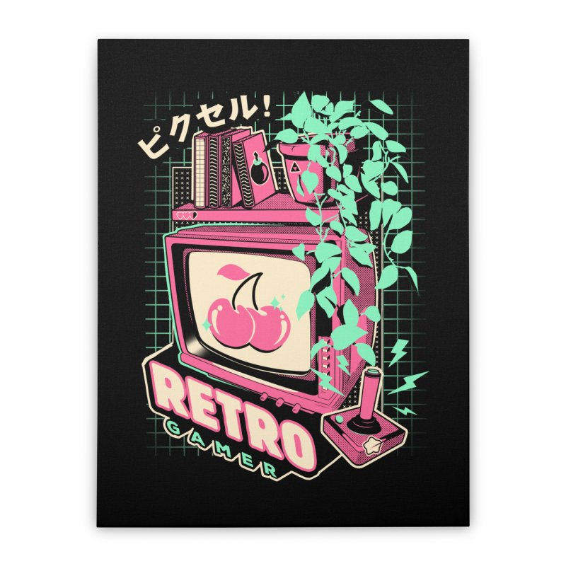 Retro Gamer Home Stretched Canvas by ilustrata