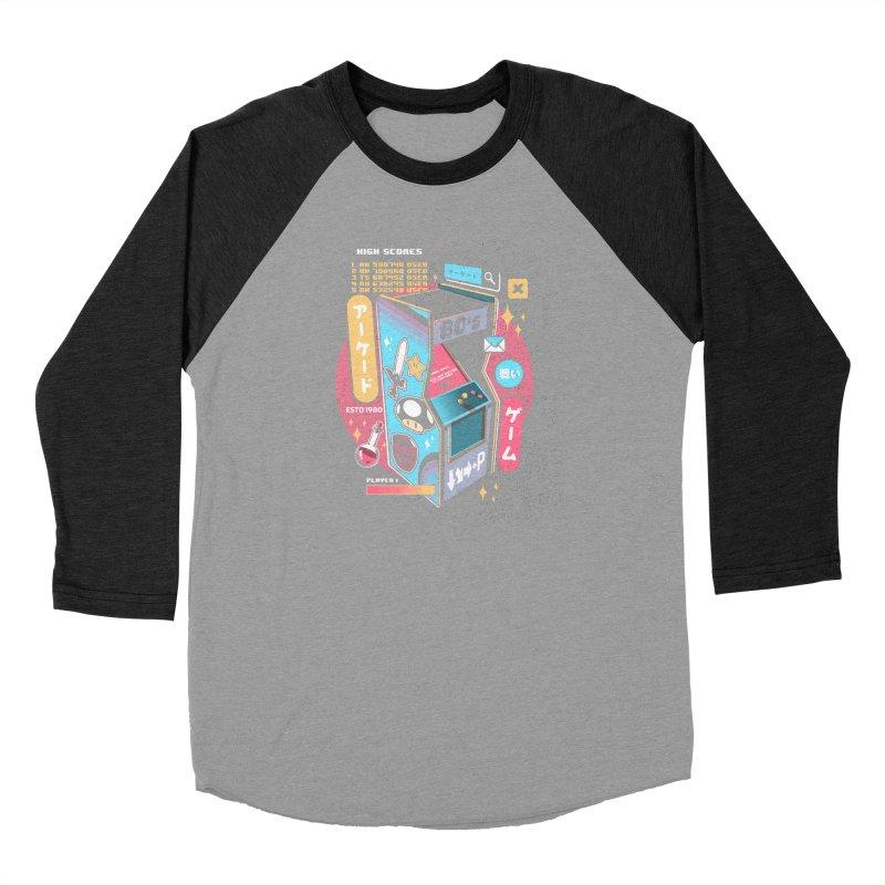 Nostalgic Men's Baseball Triblend Longsleeve T-Shirt by ilustrata