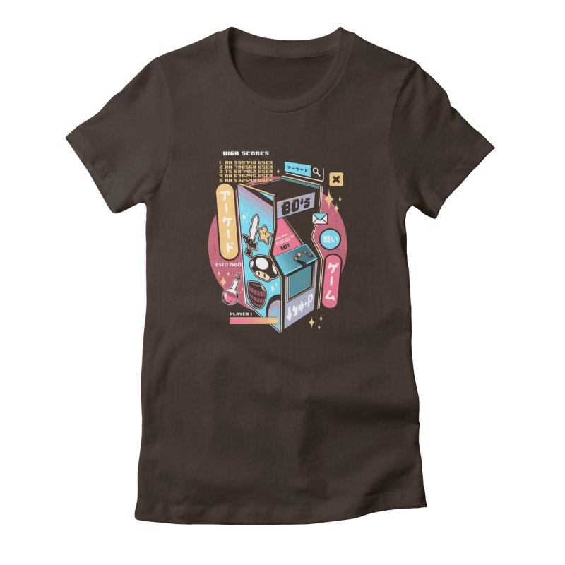 Nostalgic Women's Fitted T-Shirt by ilustrata