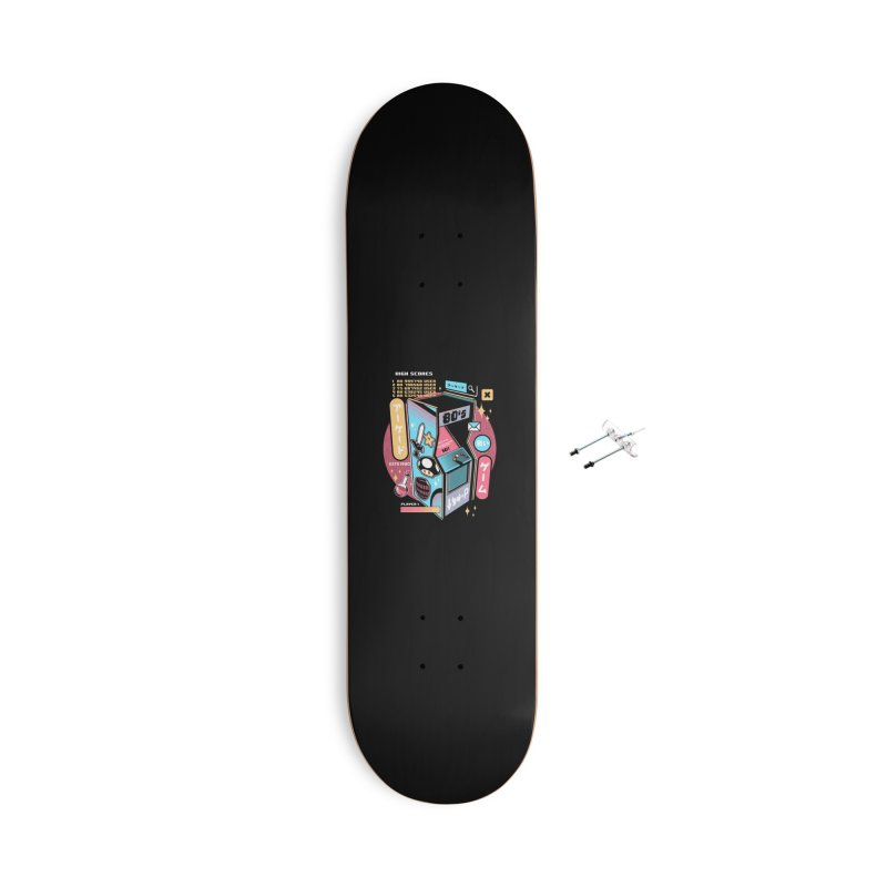 Nostalgic Accessories With Hanging Hardware Skateboard by ilustrata