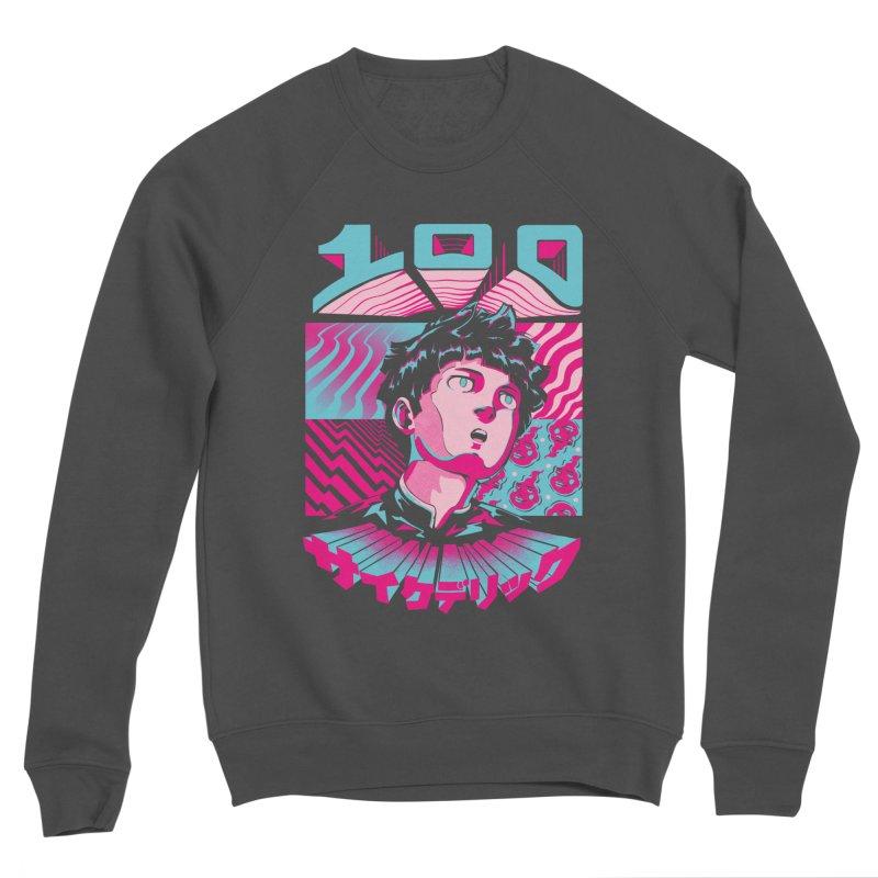 Psycho head 100 Men's Sponge Fleece Sweatshirt by ilustrata
