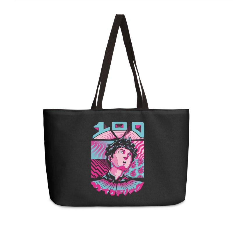 Psycho head 100 Accessories Weekender Bag Bag by ilustrata