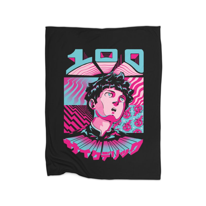 Psycho head 100 Home Fleece Blanket Blanket by ilustrata