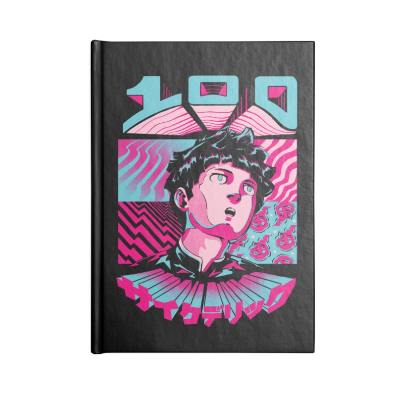 Psycho head 100 Accessories Lined Journal Notebook by ilustrata