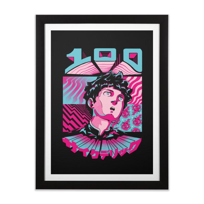 Psycho head 100 Home Framed Fine Art Print by ilustrata