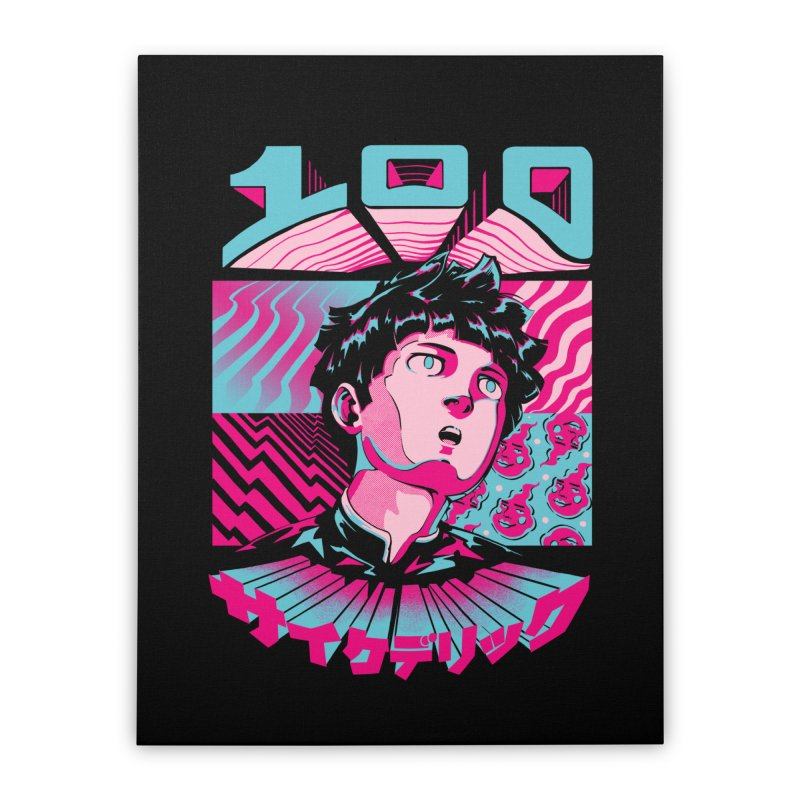 Psycho head 100 Home Stretched Canvas by ilustrata