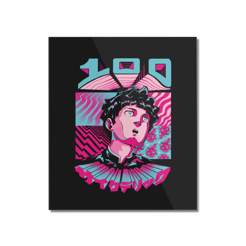 Psycho head 100 Home Mounted Acrylic Print by ilustrata