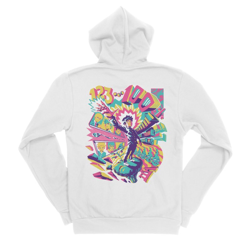 Psychedelic 100 Women's Sponge Fleece Zip-Up Hoody by ilustrata