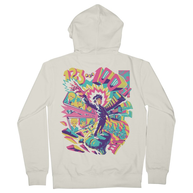 Psychedelic 100 Women's French Terry Zip-Up Hoody by ilustrata