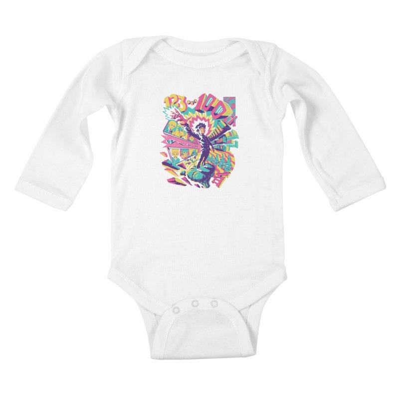 Psychedelic 100 Kids Baby Longsleeve Bodysuit by ilustrata