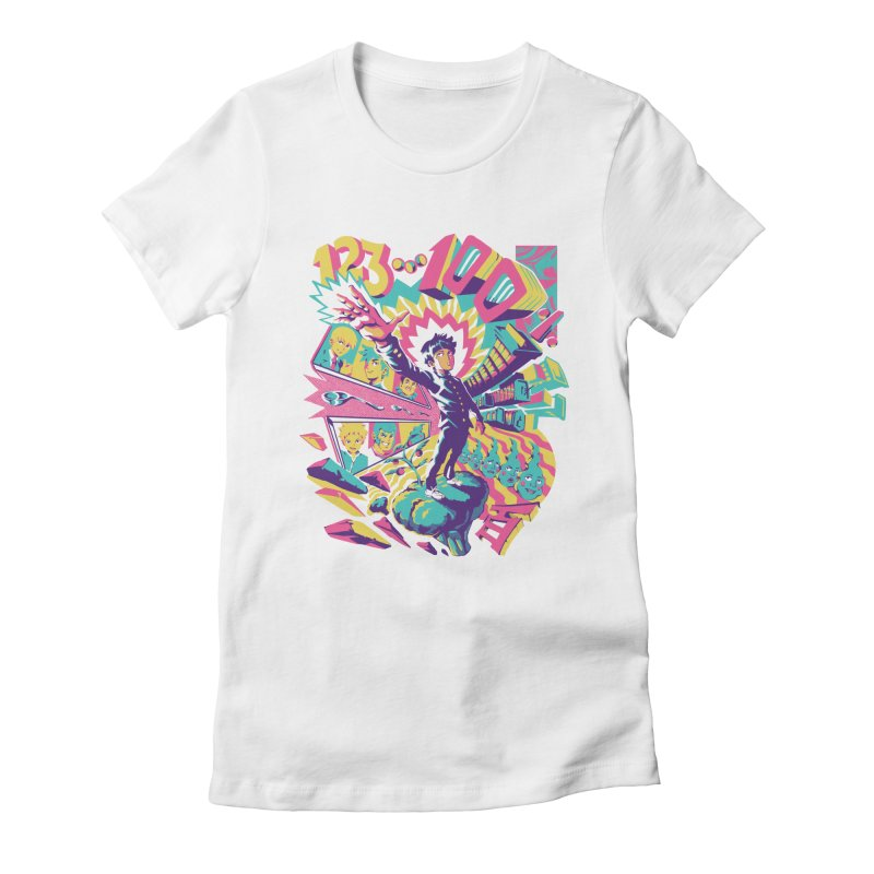 Psychedelic 100 Women's Fitted T-Shirt by ilustrata