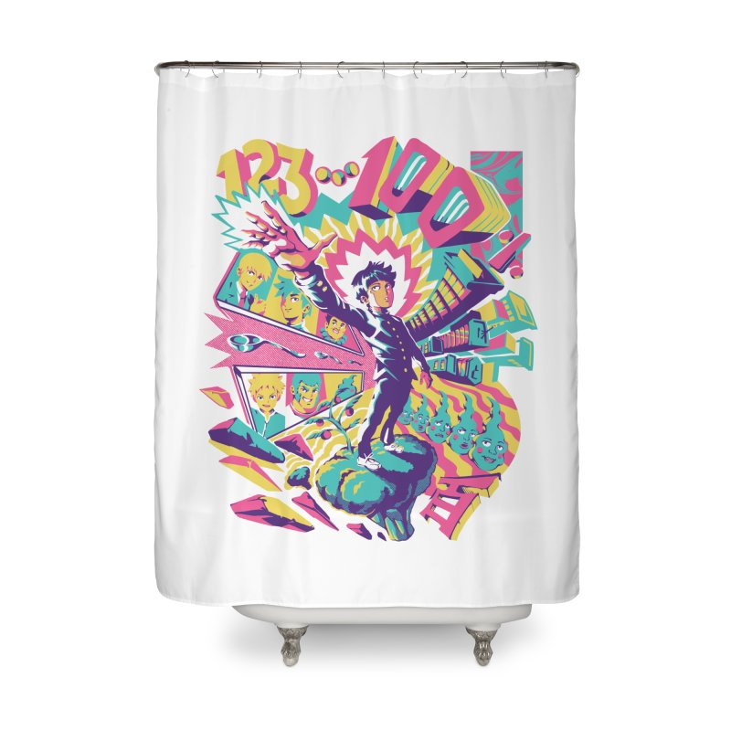 Psychedelic 100 Home Shower Curtain by ilustrata