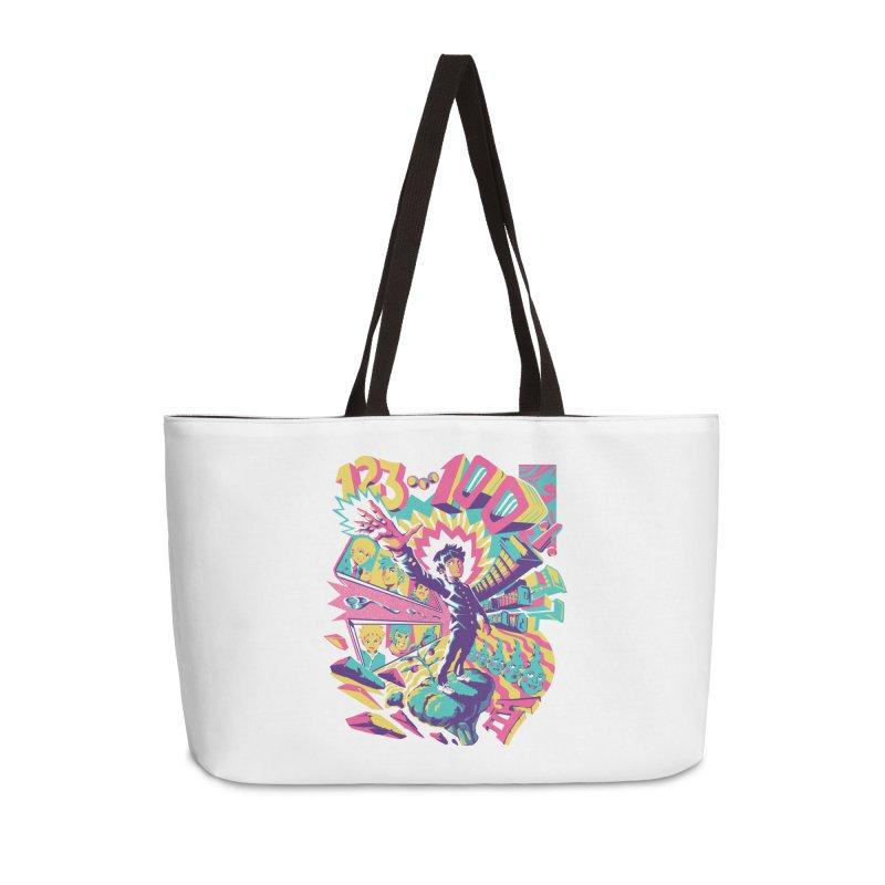 Psychedelic 100 Accessories Weekender Bag Bag by ilustrata