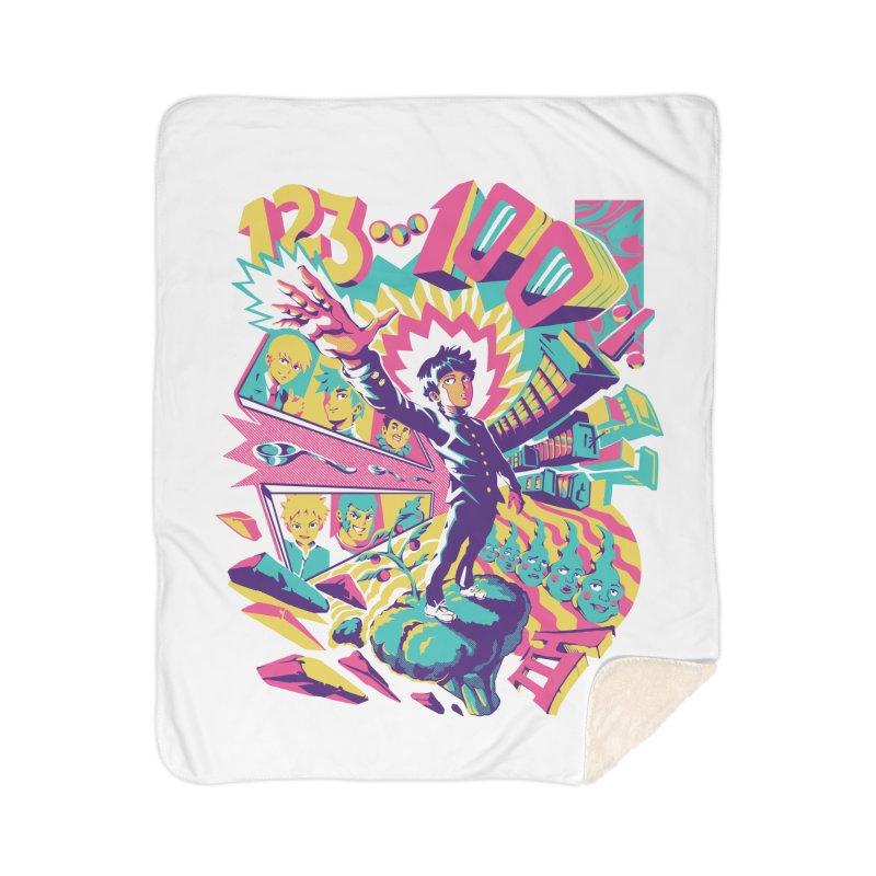 Psychedelic 100 Home Sherpa Blanket Blanket by ilustrata