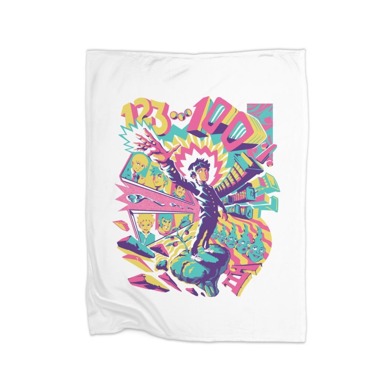 Psychedelic 100 Home Fleece Blanket Blanket by ilustrata