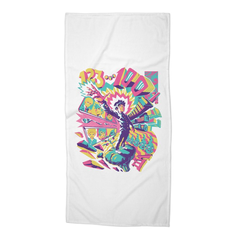 Psychedelic 100 Accessories Beach Towel by ilustrata
