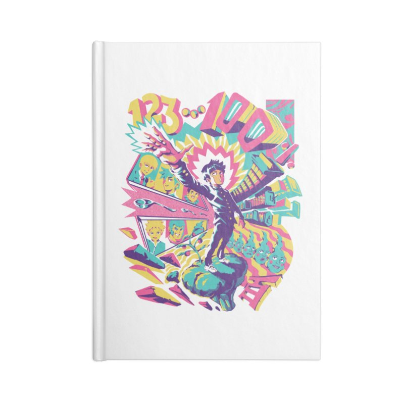 Psychedelic 100 Accessories Blank Journal Notebook by ilustrata