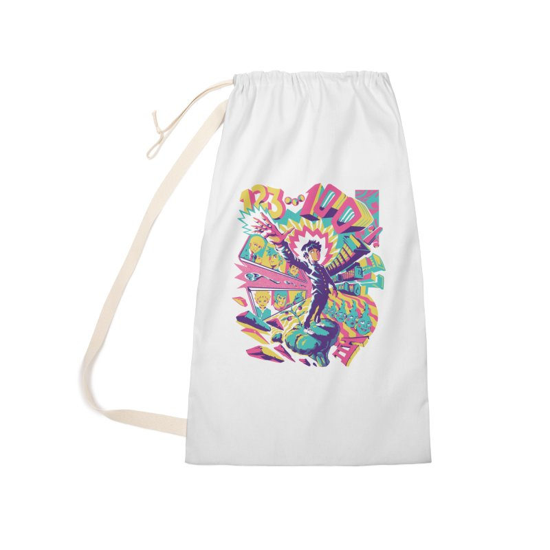 Psychedelic 100 Accessories Laundry Bag Bag by ilustrata
