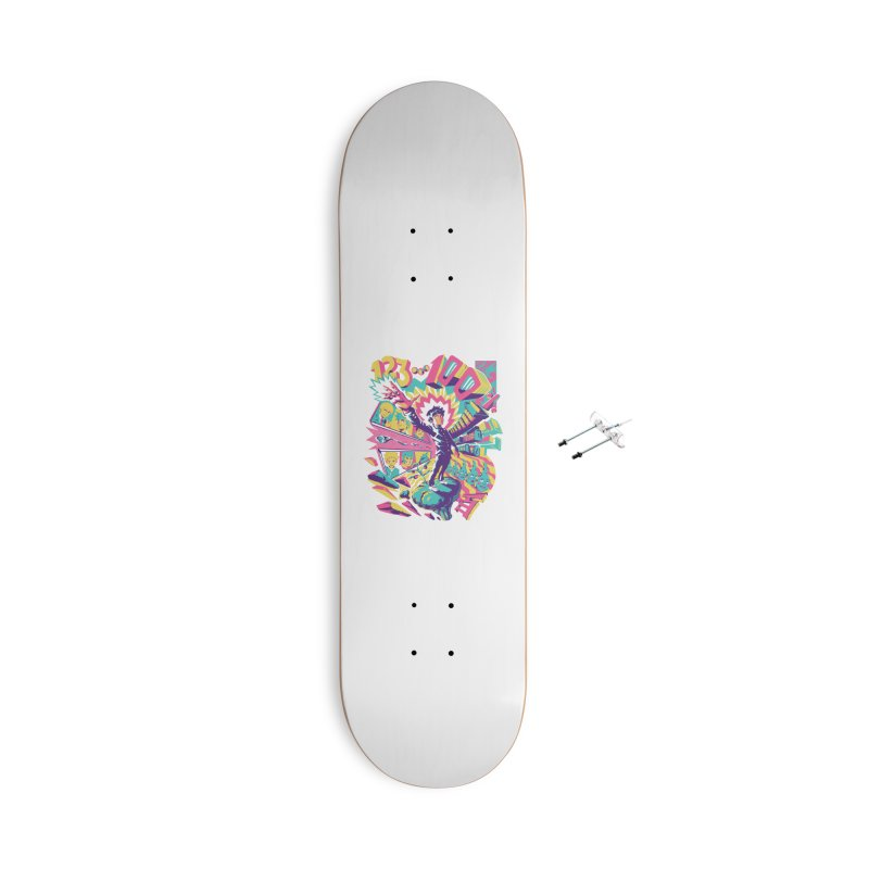 Psychedelic 100 Accessories With Hanging Hardware Skateboard by ilustrata